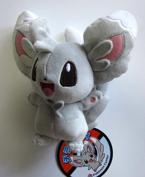 pokemon black and white minccino and emolga large size plushies